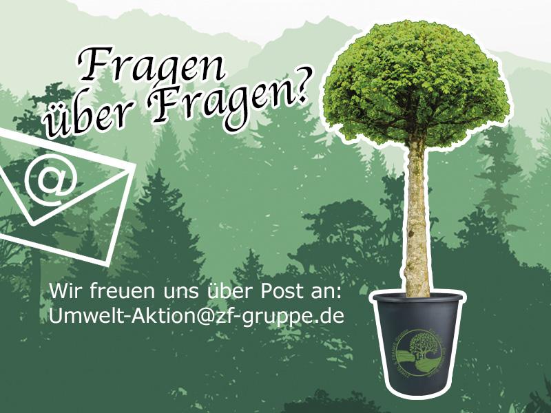 Ein Auto - ein neuer Baum #machenstattmeckern Mail