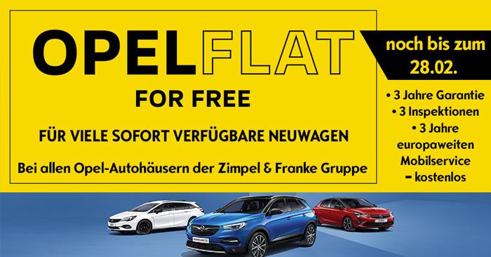 Opel Flat 4 Free - noch bis zum 28.02. kostenlos!