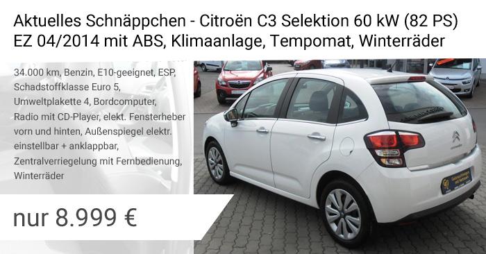 Gebrauchtwagenangebot Citroen C3 Selection