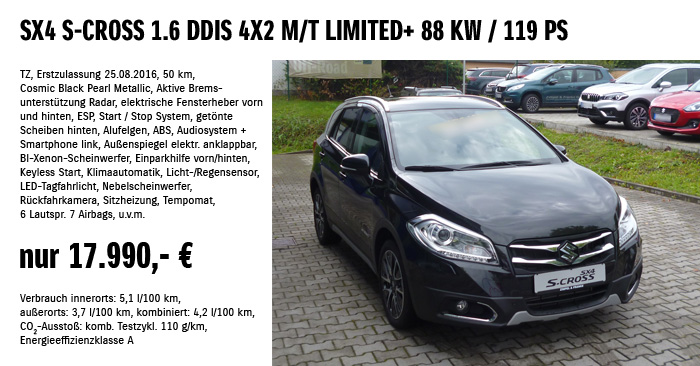 Sx4 S-Cross 1.6 DDIS 4X2 M/T Limited+ 88 KW / 119 PS