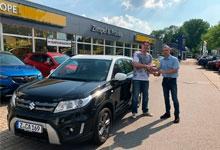 Übergabe des neuen Suzuki Vitara an den ZHC Grubenlampe