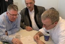 Die beiden Geschäftsführer der Zimpel & Franke Gruppe, Volkmar Stöcker und Mario Ebert sowie Jens Luge, einer der Projektkoordinatoren von Zimpel & Franke